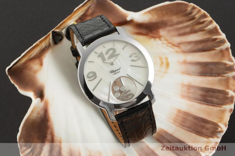 gebrauchte Luxusuhr Chopard Happy Diamonds 18k Weissgold Quarz Ref. 20/7449    2100051 _0