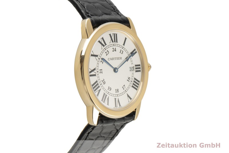 gebrauchte Luxusuhr Cartier Ronde Solo 18k Gold Quarz Kal. 113A Ref. 2988  | 2100052 _0