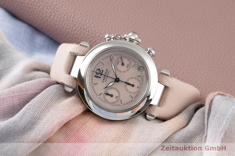 gebrauchte Luxusuhr Cartier Pasha Chronograph Stahl Automatik Kal. 047 Ref. 2412  | 2100058 _0