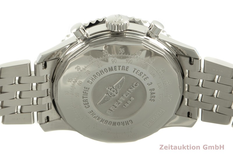 gebrauchte Luxusuhr Breitling Navitimer Chronograph Stahl Automatik Kal. B01 Ref. AB0120  | 2100062 _1