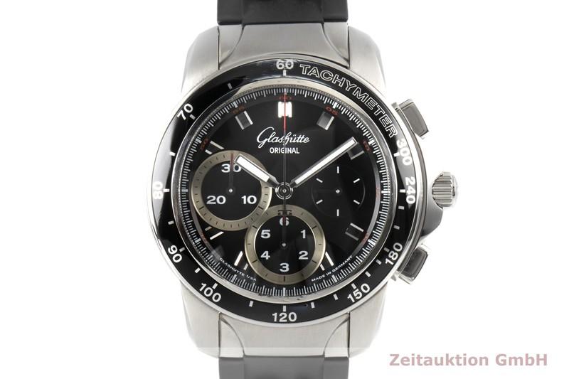 gebrauchte Luxusuhr Glashütte Sport Evolution  Chronograph Stahl Automatik Kal. 39  | 2100079 _0