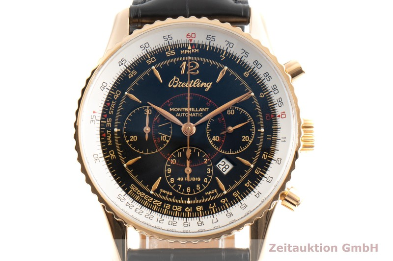 gebrauchte Luxusuhr Breitling Montbrillant Chronograph 18k Gold Automatik Ref. H41030  | 2100089 _0