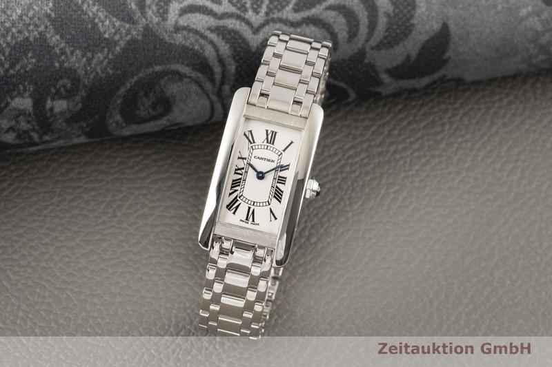 gebrauchte Luxusuhr Cartier Tank Américaine 18k Weissgold Quarz Kal. 157 Ref. W26019L1, 1713  | 2100192 _0