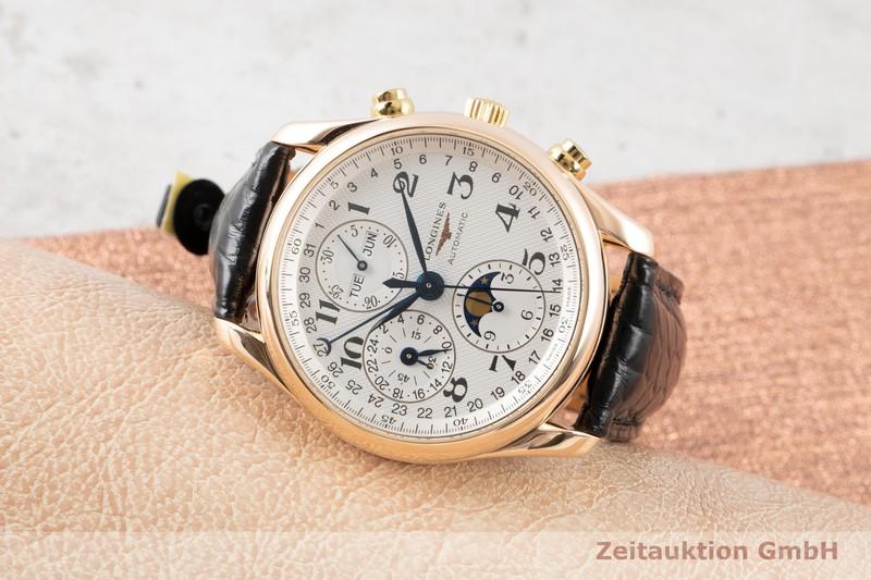 gebrauchte Luxusuhr Longines Master Collection Chronograph 18k Gold Automatik Kal. L678.2 Ref. L2.673.8  | 2100230 _0