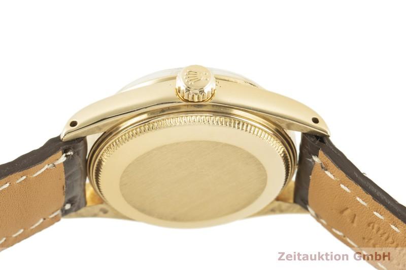 gebrauchte Luxusuhr Rolex Lady Datejust 18k Gold Automatik Kal. 2030 Ref. 6827    2100255 _1