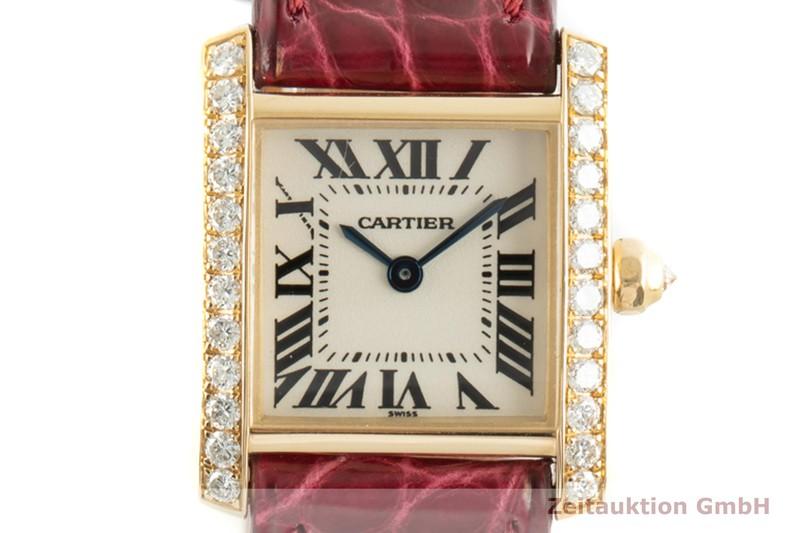 gebrauchte Luxusuhr Cartier Tank Francaise 18k Gold Quarz Kal. 016 Ref. 2364  | 2100283 _0