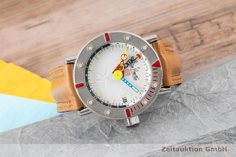 gebrauchte Luxusuhr Alain Silberstein Marine GMT Stahl Automatik Ref. 0984 LIMITED EDITION | 2100308 _0