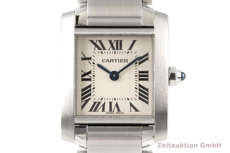 gebrauchte Luxusuhr Cartier Tank Francaise Stahl Quarz Kal. 057 Ref. 2384  | 2100316 _0