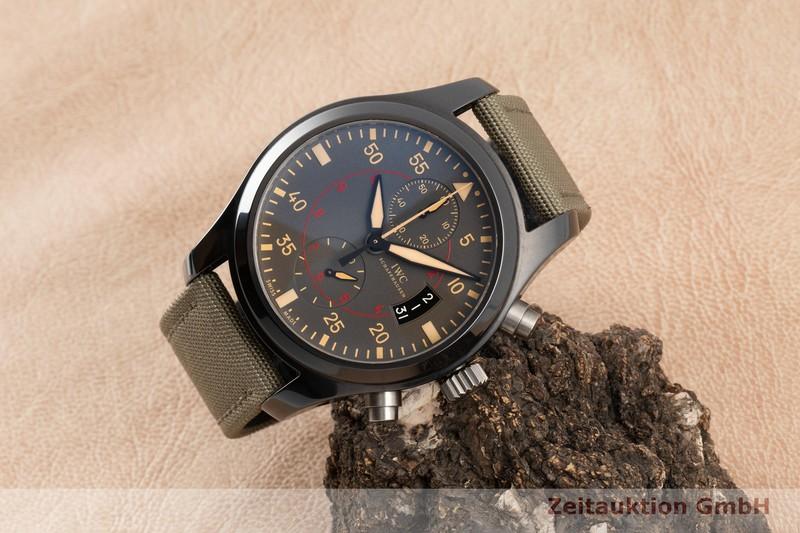 gebrauchte Luxusuhr IWC Pilot Chronograph Keramik / Titan Automatik Kal. C.89365 Ref. 3880  | 2100374 _0