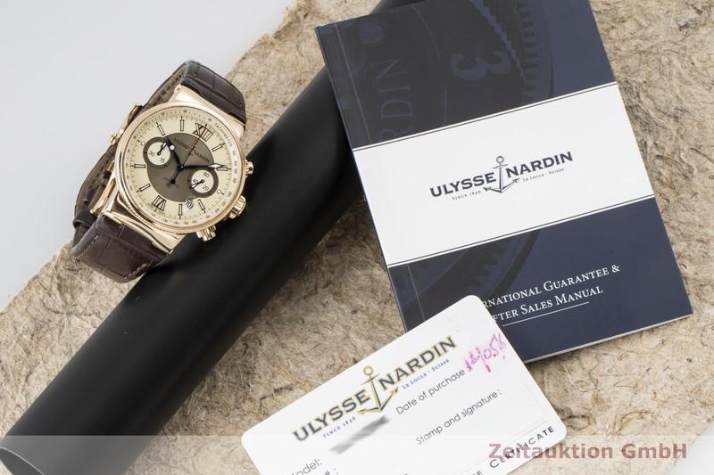 gebrauchte Luxusuhr Ulysse Nardin Marine Chronograph Chronograph 18k Gold Automatik Kal. UN035 Ref. 356-66/354  | 2100376 _0