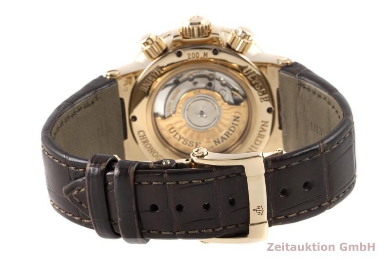 gebrauchte Luxusuhr Ulysse Nardin Marine Chronograph Chronograph 18k Gold Automatik Kal. UN035 Ref. 356-66/354  | 2100376 _1