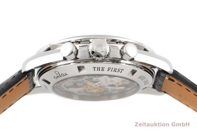 gebrauchte Luxusuhr Omega Speedmaster Moonwatch Chronograph Stahl Handaufzug Kal. 1866 Ref. 3876.50.31    2100395 _1
