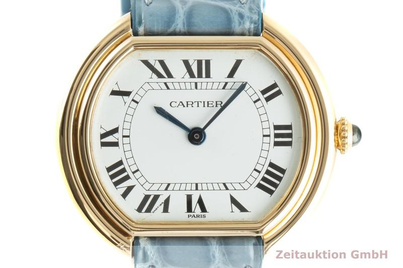 gebrauchte Luxusuhr Cartier Ellipse 18k Gold Handaufzug Kal. 78/1 Ref. 78091  | 2100400 _0