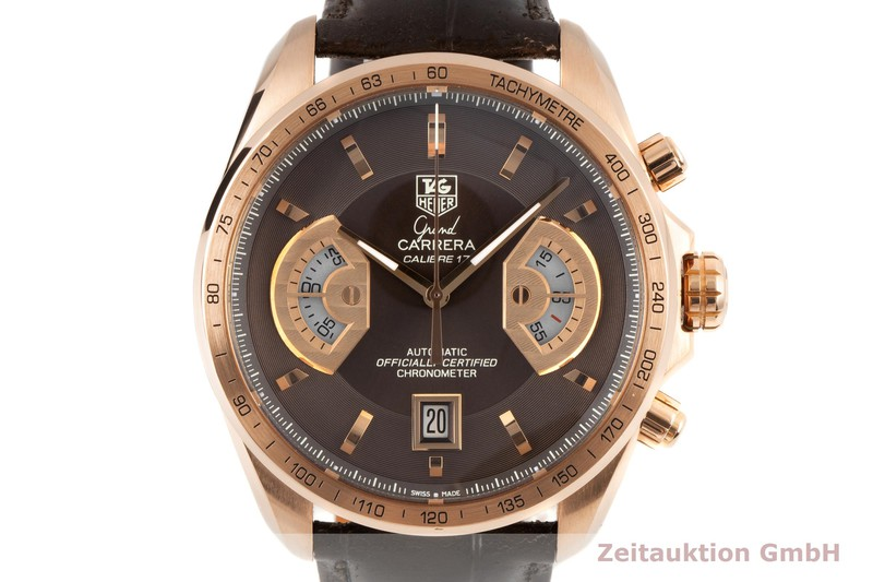 gebrauchte Luxusuhr Tag Heuer Carrera Chronograph 18k Rotgold Automatik Kal. 17 Ref. CAV514C LIMITED EDITION   2100405 _0