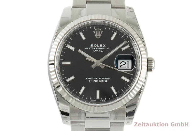 gebrauchte Luxusuhr Rolex Date Stahl / Weissgold Automatik Kal. 3135 Ref. 115234    2100548 _0