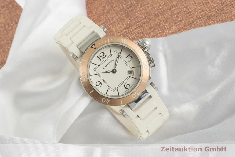 gebrauchte Luxusuhr Cartier Pasha Stahl / Gold Quarz Kal. 688 Ref. 3025    2100577 _0