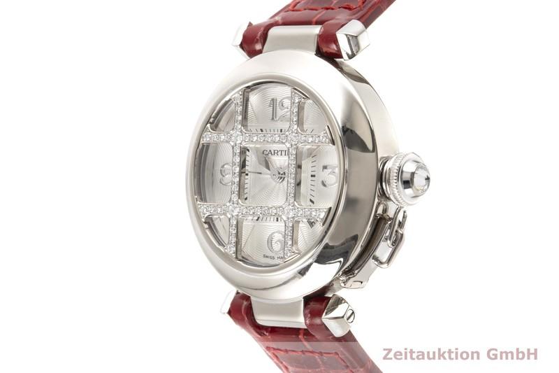 gebrauchte Luxusuhr Cartier Pasha 18k Weissgold Automatik Kal. 120 Ref. 2400  | 2100580 _0