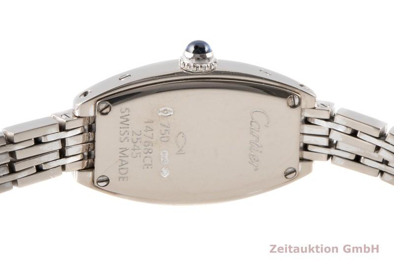 gebrauchte Luxusuhr Cartier Tonneau 18k Weissgold Quarz Kal. 028 Ref. 2545  | 2100582 _1