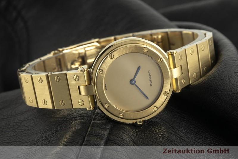 gebrauchte Luxusuhr Cartier Santos 18k Gold Quarz Kal. 81  | 2100591 _0