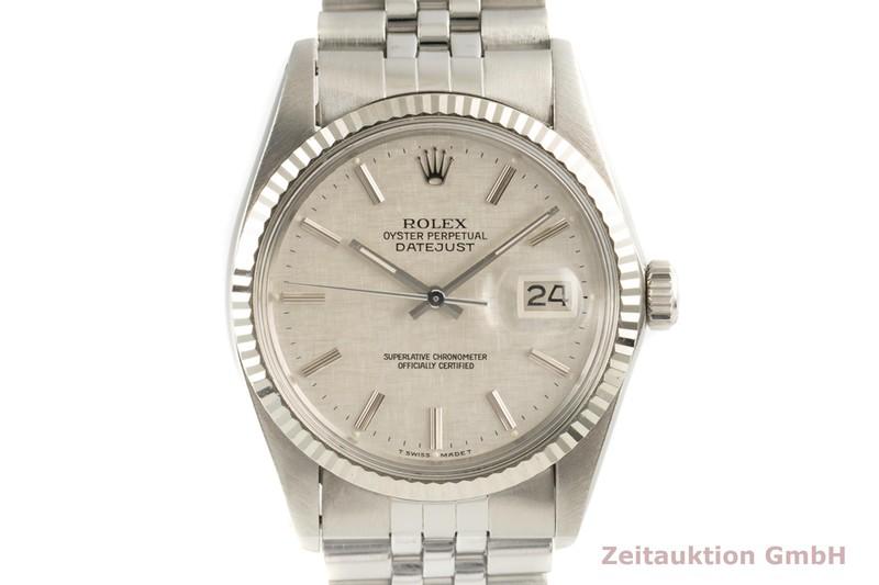 gebrauchte Luxusuhr Rolex Datejust Stahl / Weissgold Automatik Kal. 3035 Ref. 16014    2100601 _0