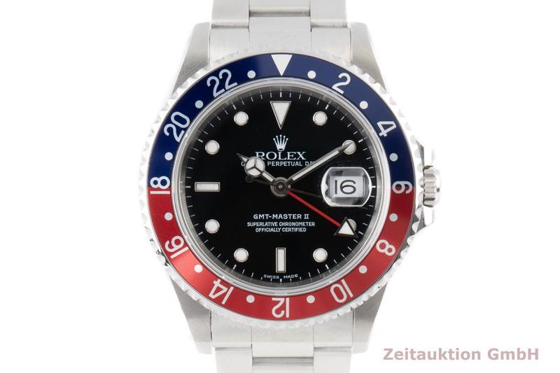 gebrauchte Luxusuhr Rolex GMT Master II Stahl Automatik Kal. 3185 Ref. 16710  | 2100611 _0