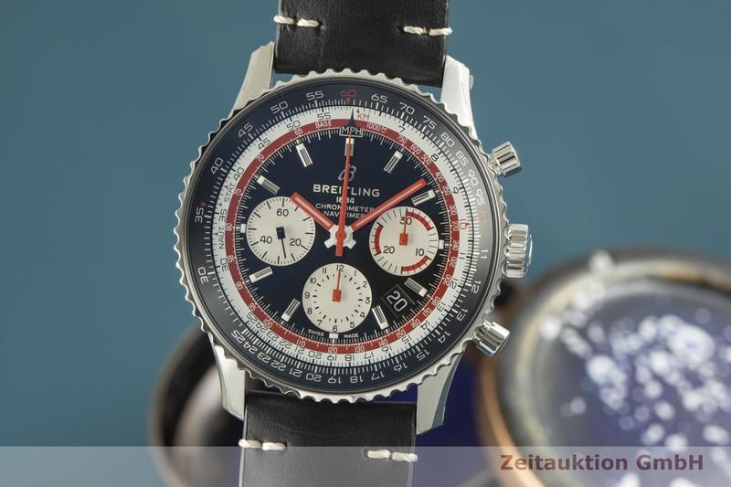 gebrauchte Luxusuhr Breitling Navitimer 01 Chronograph Stahl Automatik Kal. B01 Ref. AB0121    2100642 _0