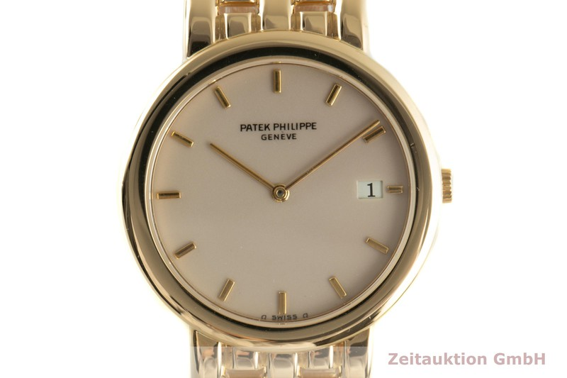 gebrauchte Luxusuhr Patek Philippe Calatrava 18k Gold Quarz Kal. E23C Ref. 3937/3  | 2100682 _0