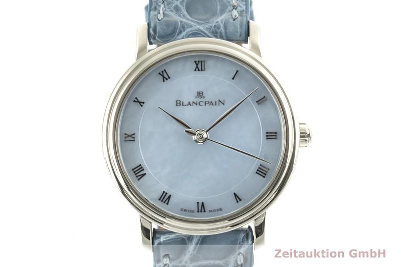 gebrauchte Luxusuhr Blancpain Villeret 18k Weissgold Automatik Kal. 953 Ref. 6102  | 2100684 _0