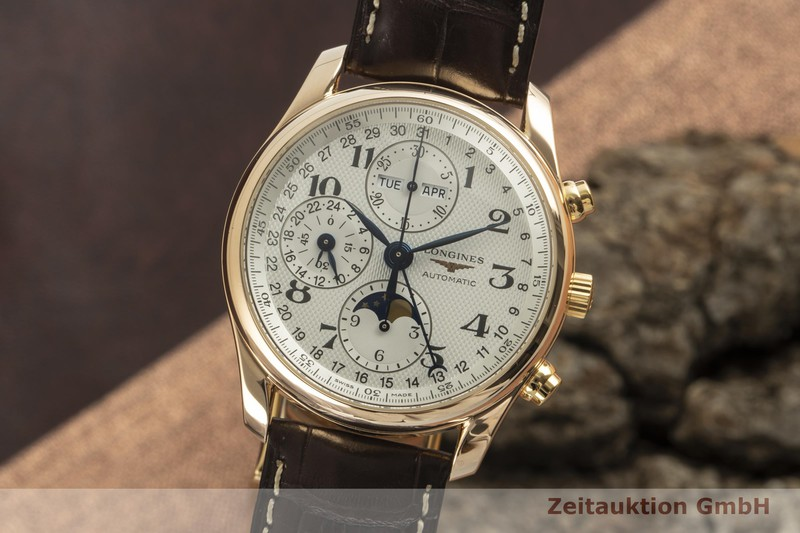 gebrauchte Luxusuhr Longines Master Collection Chronograph 18k Rotgold Automatik Kal. L678.2 Ref. L2.673.8  | 2100903 _0