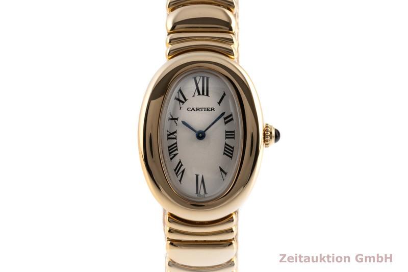 gebrauchte Luxusuhr Cartier Baignoire 18k Gold Quarz Kal. 057.06 Ref. 1950    2101340 _0
