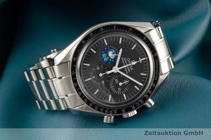 gebrauchte Luxusuhr Omega Speedmaster Moonwatch Chronograph Stahl Handaufzug Kal. 1861 Ref. 145.0031 LIMITED EDITION   2101423 _0