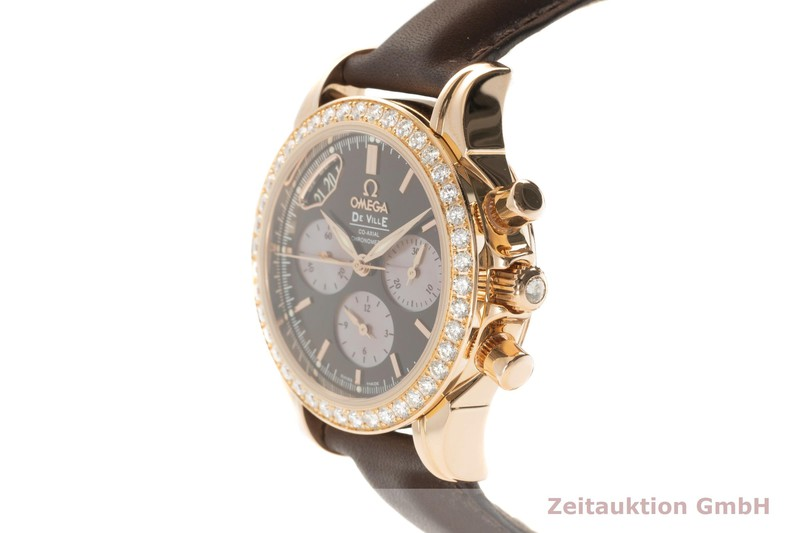 gebrauchte Luxusuhr Omega De Ville Chronograph 18k Gold Automatik Kal. 3313 Ref. 4677.60.37, 278.1711    2101642 _0