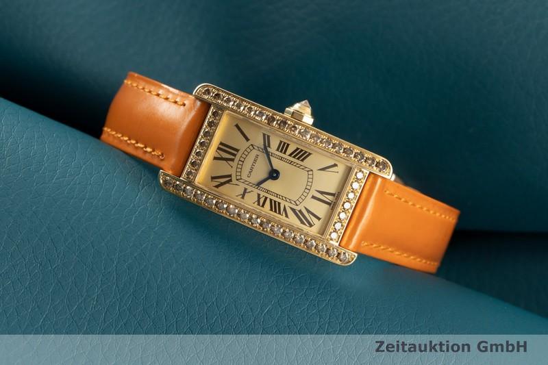 gebrauchte Luxusuhr Cartier Tank Américaine 18k Gold Quarz Kal. 157 Ref. 2482    2101658 _0
