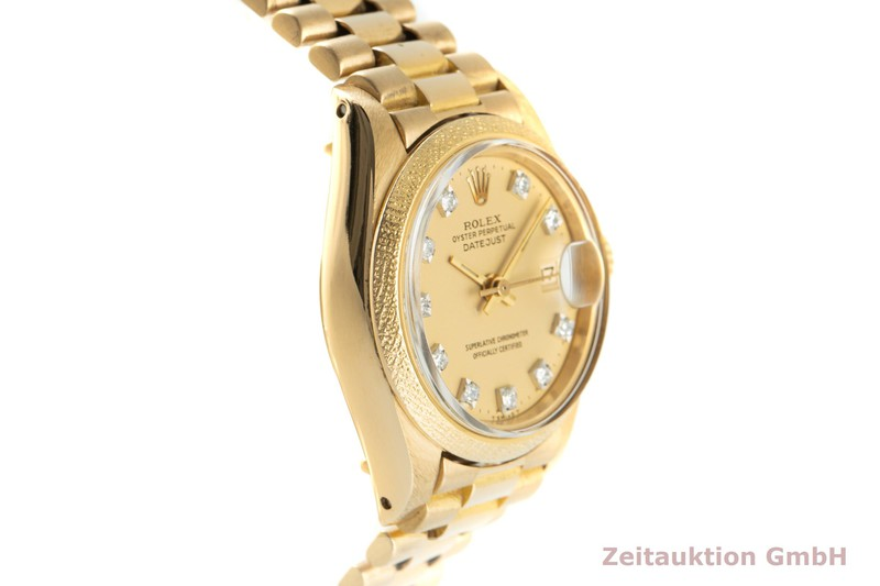 gebrauchte Luxusuhr Rolex Lady Datejust 18k Gold Automatik Kal. 2030 Ref. 6901  | 2101686 _0
