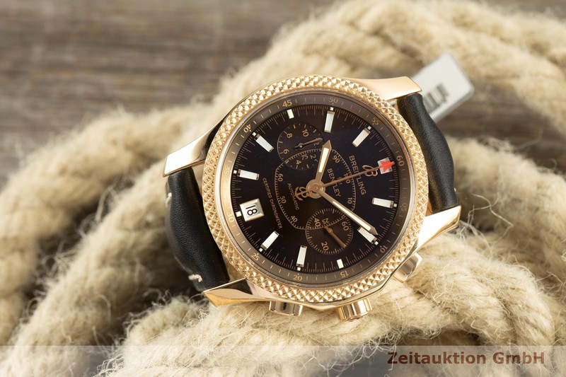 gebrauchte Luxusuhr Breitling Bentley Mark VI Chronograph 18k Gold Automatik Kal. B26 Ref. A26362 LIMITED EDITION | 2101762 _0