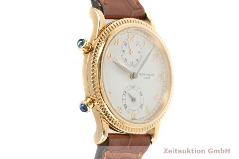 gebrauchte Luxusuhr Patek Philippe Travel Time 18k Gold Handaufzug Kal. 215/156 Ref. 4864J-010  | 2101773 _0