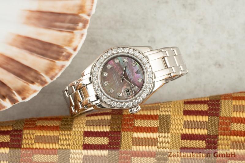 gebrauchte Luxusuhr Rolex Datejust 18k Weissgold Automatik Kal. 2235 Ref. 80299    2101863 _0