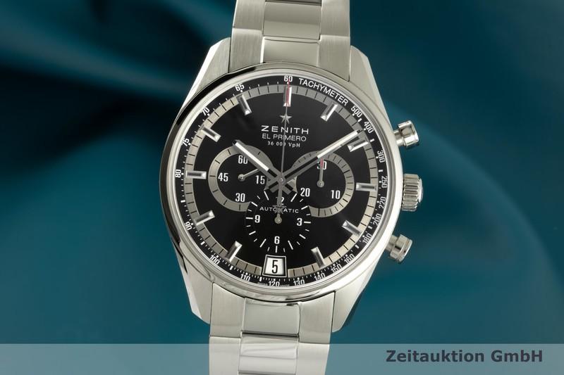 gebrauchte Luxusuhr Zenith El Primero Chronograph Stahl Automatik Kal. 400 Ref. 03.2040.400    2101873 _0