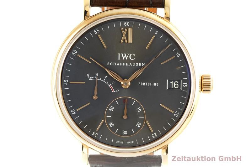 gebrauchte Luxusuhr IWC Portofino 18k Gold Handaufzug Kal. C.59210 Ref. IW510104  | 2102076 _0