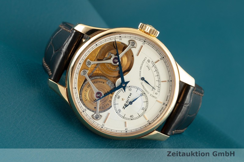 gebrauchte Luxusuhr Zenith Academy 18k Gold Handaufzug Kal. 4810 Ref. 18.2210.4810 LIMITED EDITION | 2102081 _0