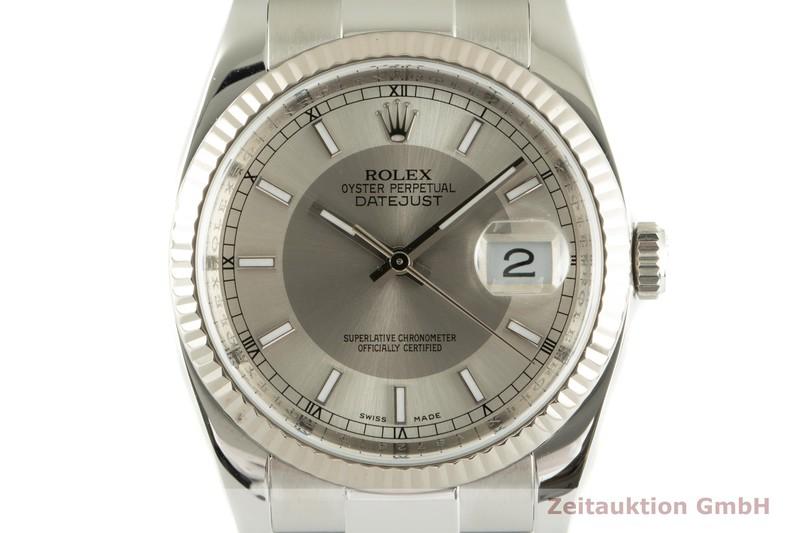 gebrauchte Luxusuhr Rolex Datejust Stahl / Weissgold Automatik Kal. 3135 Ref. 116234  | 2102085 _0