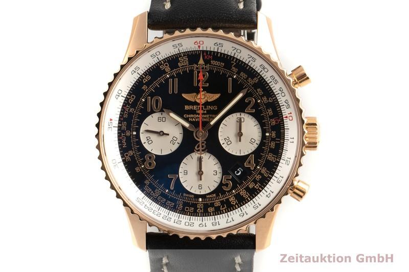 gebrauchte Luxusuhr Breitling Navitimer 01 Chronograph 18k Gold Automatik Kal. B01 Ref. RB0120  | 2102229 _0