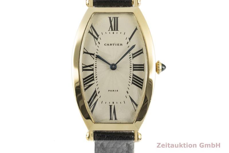 gebrauchte Luxusuhr Cartier Tonneau 18k Gold Handaufzug Kal. 78-1 Ref. 594-91    2102273 _0