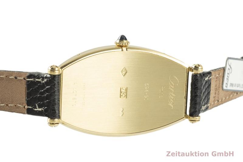 gebrauchte Luxusuhr Cartier Tonneau 18k Gold Handaufzug Kal. 78-1 Ref. 594-91    2102273 _1