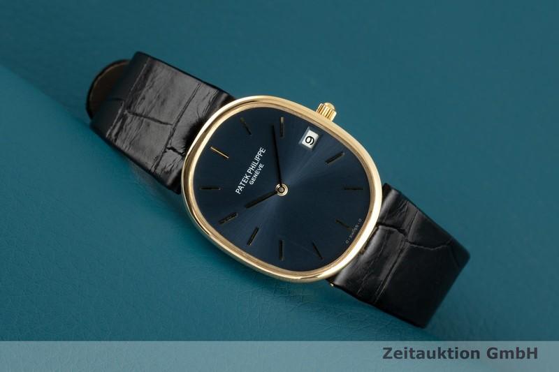gebrauchte Luxusuhr Patek Philippe Ellipse 18k Gold Quarz Kal. E23C Ref. 3788    2102337 _0