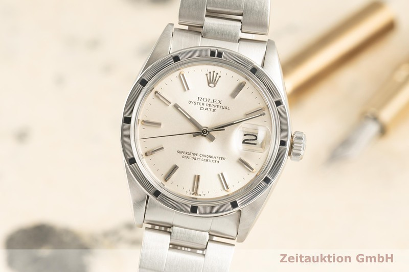 gebrauchte Luxusuhr Rolex Date Stahl Automatik Kal. 1570 Ref. 1501 VINTAGE  | 2102394 _0