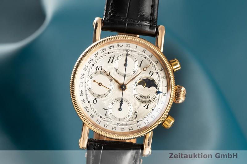 gebrauchte Luxusuhr Chronoswiss Lunar Chronograph 18k Gold Automatik Kal. C.755 Ref. CH7521R  | 2102412 _0