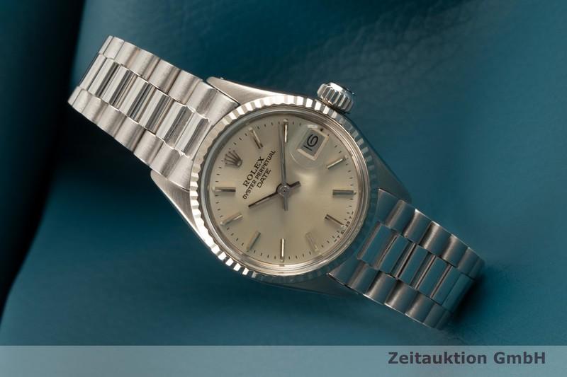 gebrauchte Luxusuhr Rolex Lady Date 18k Weissgold Automatik Kal. 1160 Ref. 6516    2102579 _0