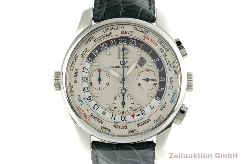 gebrauchte Luxusuhr Girard Perregaux Traveller Chronograph Stahl Automatik Kal. 3387 Ref. 49805 LIMITED EDITION | 2102592 _0