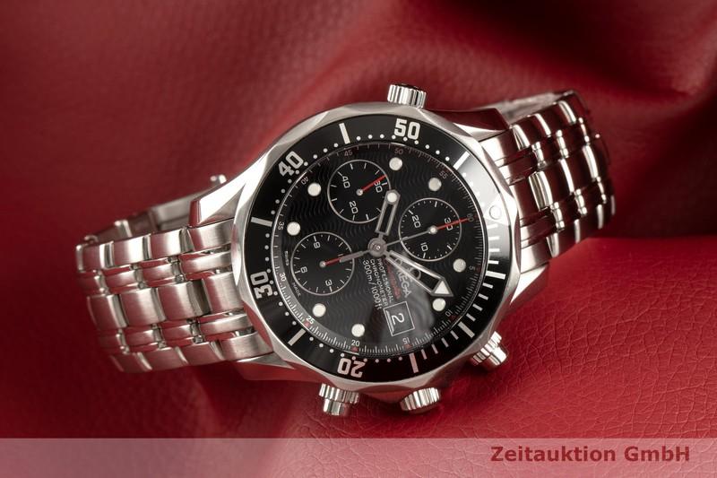 gebrauchte Luxusuhr Omega Seamaster Chronograph Stahl Automatik Kal. 1164 Ref. 213.30.42.40.01.001    2102619 _0